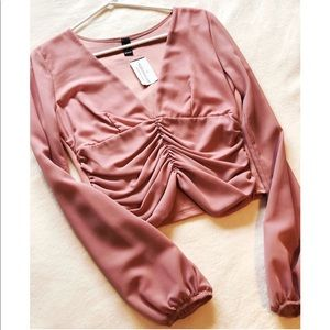 Long-sleeved Mauve Top